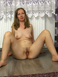 Incredible mature mademoiselle is getting naked