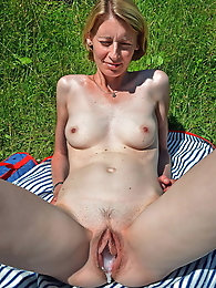 Attractive mature chicks having dripping twat