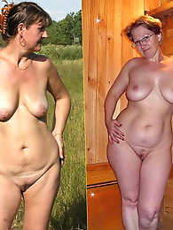 Skinny mature prostitute with unshaved pussy