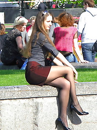 Pantyhose In Public-Parks